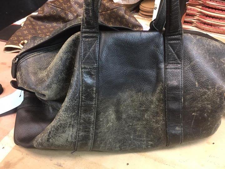 Renowacja skórzanej torby lub teczki Galanteria skórzana i